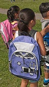 Kids and backpacks