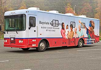Baystate Health Bloodmobile