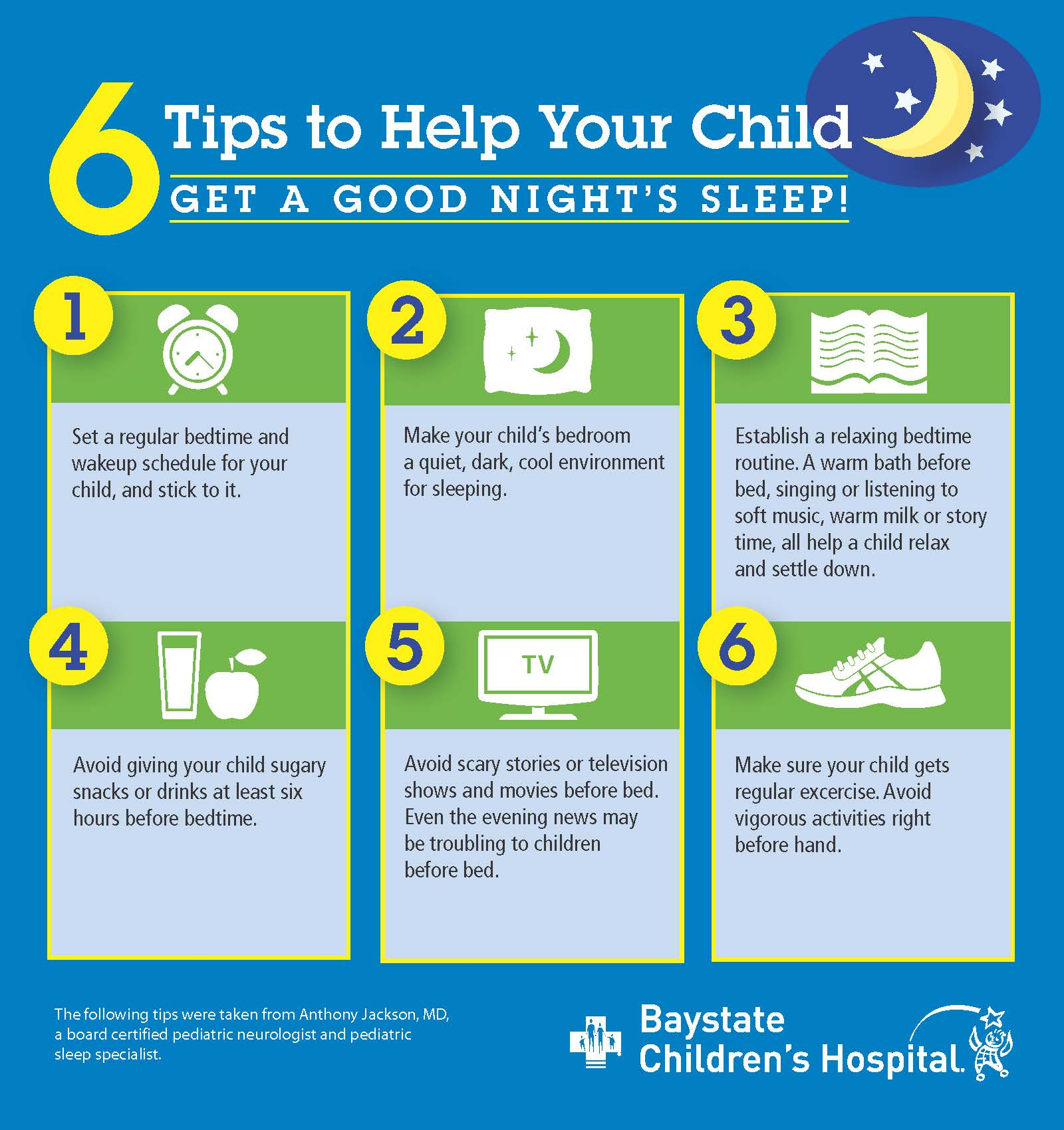 Infographic: 6 Tips To Help Your Child Sleep